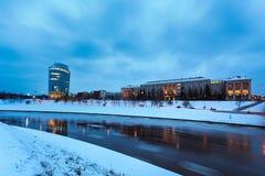Litauische Universität von Erziehungswissenschaften und von Barclay Buildi Stockfotos