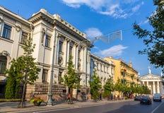 Litauisk akademi av vetenskaper arkivbilder