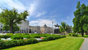 Litauisk fyrkant i Lublin. Stad i Polen. Royaltyfria Foton