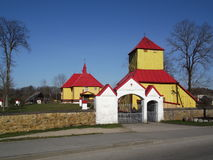 Litauisk kyrka Arkivbilder