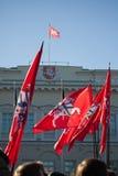 Litauiska historiska) flaggor för tillstånd ( Arkivfoton