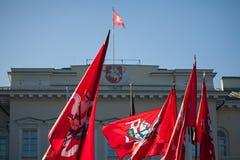 Litauiska historiska) flaggor för tillstånd ( Royaltyfri Fotografi