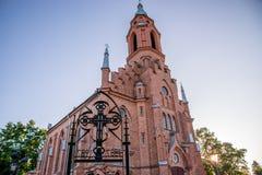 Litauiska kyrkor - Kernave royaltyfri bild