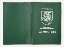 Litauiskt arbetarbokomslag Arkivbilder