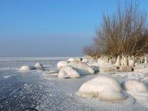 Litauiskt vinterlandskap arkivfoto