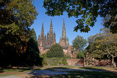 Litchfield Cathedral Stock Image