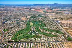 Litchfield-Park, Arizona-Vogelperspektive lizenzfreies stockbild