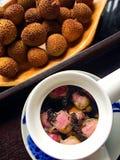 Litchi & розовый чай Стоковая Фотография RF