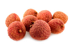 Litchi. Close-up on white background Stock Photography