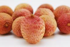 Litchi. Fruit on white background Stock Photos