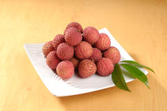 Litchi. The lychee is a tropical and subtropical fruit tree native to China Royalty Free Stock Photos