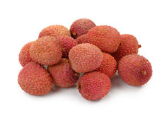 Litchi. Isolated on white background Stock Photography