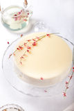 Litchi, black tea and white wine mousse cake Stock Images