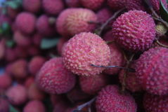 Litchi. Close-up. Fresh , ripe.  is one of the most delicious fruits Stock Photos