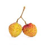 litchi för 2 frukt Arkivbilder
