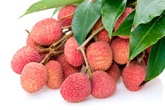 Litchi fruits Royalty Free Stock Photo