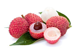 Litchi fruits Royalty Free Stock Photos