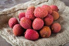 Litchi fruits Stock Photos