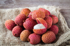 Litchi fruits Royalty Free Stock Image