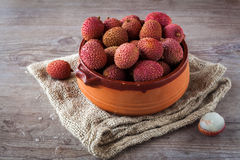 Litchi fruits Royalty Free Stock Images