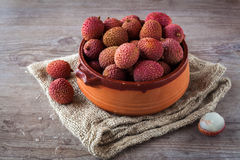 Litchi fruits Stock Image