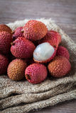 Litchi fruits Stock Images