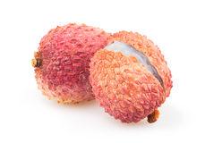 Litchi group. On white background Royalty Free Stock Image