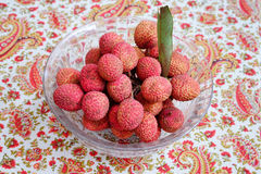 Litchi lichee lychee - Litchi chinensis Royalty Free Stock Images