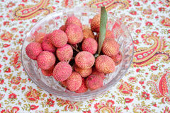 Litchi lichee lychee - Litchi chinensis Stock Images