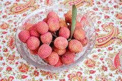 Litchi lichee lychee - Litchi chinensis Stock Images