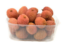 Litchi  in the plastic box Royalty Free Stock Photography