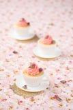 Litchi Rose Cupcakes Photographie stock