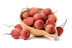 Litchi. On white background Stock Images