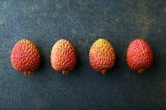 Litchiplommonfrukt inget studio royaltyfria foton