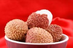 Litchis или lychees Стоковые Фотографии RF