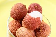 Litchis или lychees Стоковая Фотография