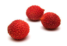 Litchis isolated on white Stock Photography