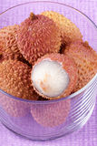 Litchis (lychee) close-up Stock Photography