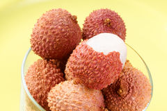Litchis or lychees Stock Photography