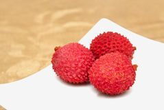 Litchis on the plate Royalty Free Stock Image