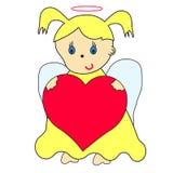 Lite ängel stock illustrationer