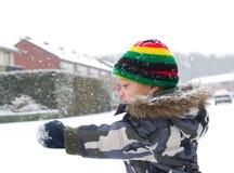 Barn i snow royaltyfria foton