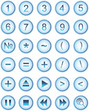 Lite blue web icons, buttons Stock Image