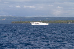 Lite Ferry in front of Bohol Island, Philippines Royalty Free Stock Photography
