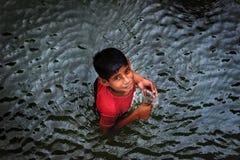 Lite fiskare royaltyfri foto