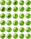 Lite Green web icons, buttons. Vector illustration Stock Image