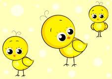 Lite gul höna Stock Illustrationer