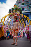 Lite Indien - Singapore, 7 Februari 2012: En fantast i Thaipusa Royaltyfri Fotografi
