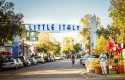 Lite Italien, San Diego, Kalifornien Royaltyfri Foto
