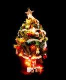 lite julgran Arkivfoto